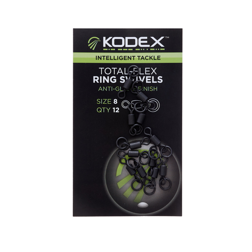 KODEX Total-Flex Ring Swivel No8 (12pc pkt)