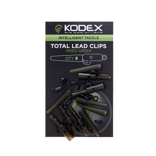 KODEX Total Lead-Clip System: Weed Green (5pc pkt)
