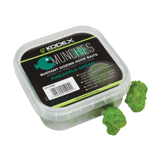 KODEX Munchies Buoyant Oozing Hookbaits - Pineapple Green (125ml tub)
