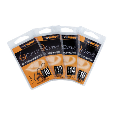 MIDDY QC-1 Method-Wafter Eyed Hooks size 14 (10pc pkt)