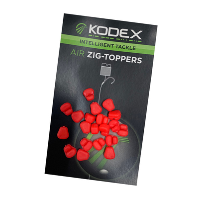 KODEX Air Zig-Toppers: Fluo Red (20pc pkt)