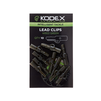 KODEX Lead Clips: Weed Green (10pc pkt)