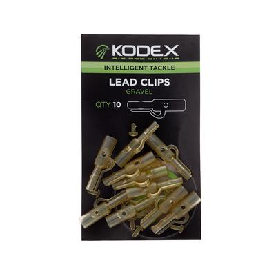 KODEX Lead Clips: Gravel (10pc pkt)